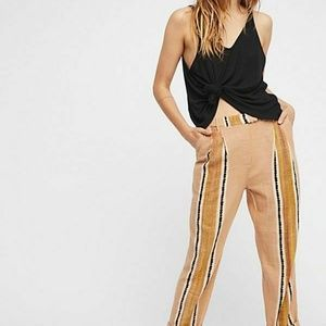 Free People Out and About Trouser Striped Pant M